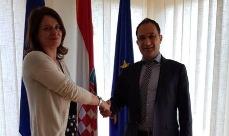 Г-дин Реџепи се сретна со г-ѓа Звјездана Боровац, втор секретар, задолжен за економски прашања во Амбасадата на Република Хрватска во Република Македонија